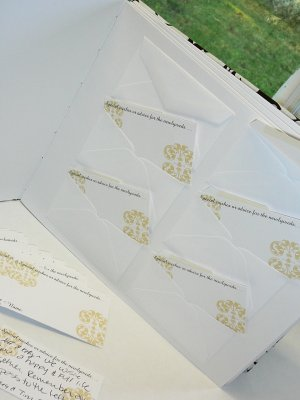"Custom Envelope ""Wedding Wishes"" Guest Book"