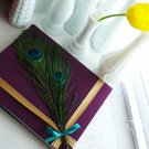 Peacock Feather Custom Wedding Guest Book