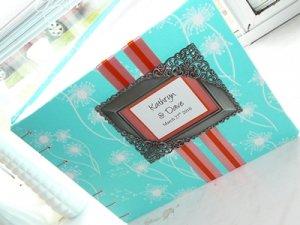 Framed Monogram Custom Wedding Guest Book