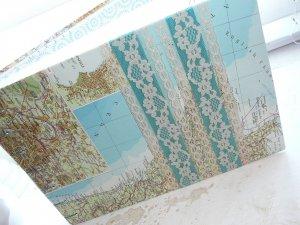 MAP Custom Wedding Guest Book