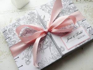 Double Bound Unique Custom Wedding Guest Book