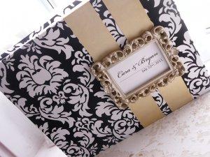 Framed Name Card Custom Wedding Guest Book