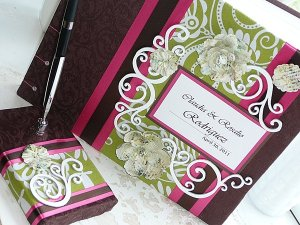 Embellished Cover Custom Wedding Guest Book