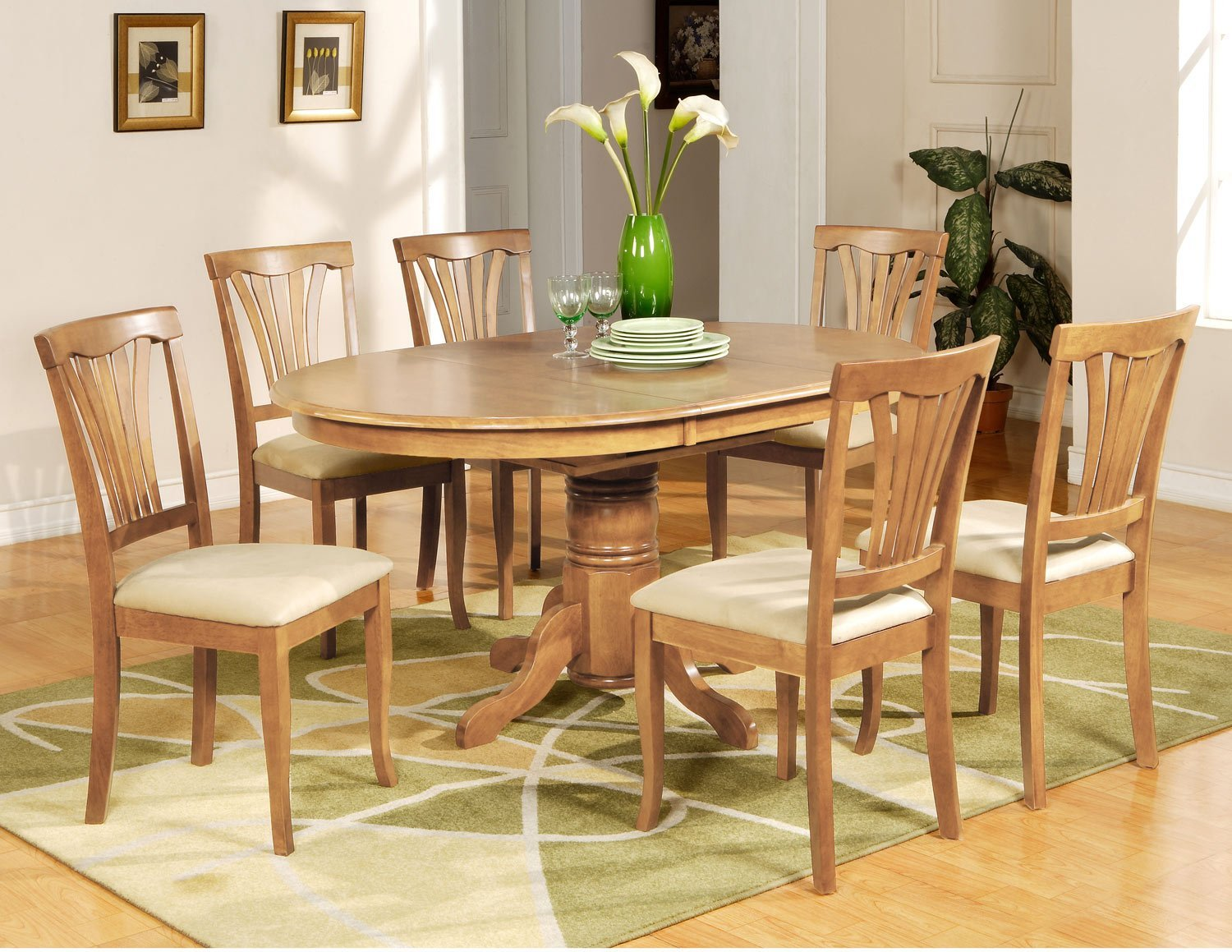 7 PC Avon Oval Dining Table 6 Microfiber Upholstered  : 4f5059a751d65137513b from www.ecrater.com size 1500 x 1159 jpeg 294kB