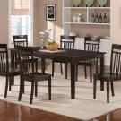 5pc Henley Dining Table with 4 Capri Wood Seat Chairs in Cappuccino. SKU#: HECA5-CAP-W