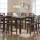 """Dinette Kitchen Counter Height Table with 18"""" Leaf (without chair) in Cappuccino SKU: FT-CAP-T"""