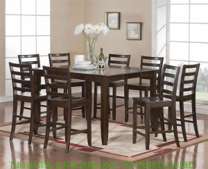"Dinette Kitchen Counter Height Table with 18"" Leaf (without chair) in Cappuccino SKU: FT-CAP-T"