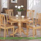 "ANTIQUE ROUND DINETTE KITCHEN TABLE IN OAK FINISH 36"" DIAMETER - NO CHAIR, SKU#: ANT-OAK-T"