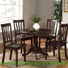"ANTIQUE ROUND DINETTE KITCHEN TABLE IN CAPPUCCINO 36"" DIAMETER - NO CHAIR, SKU#: ANT-CAP-T"