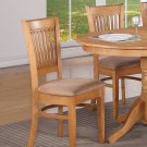 Set of 2 Dinette Kitchen Dining Chairs w/ Microfiber Upholstered in Light Oak finish, SKU: VAC-OAK-C