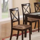 Set of 8 Dinette Kitchen Dining Chairs w/ Microfiber Upholstered in Cappuccino Finish, SKU: BC-CAP-C
