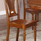 Set of 2 dinette kitchen dining chairs with wooden seat in Saddle Brown, SKU- PL-SBR-W