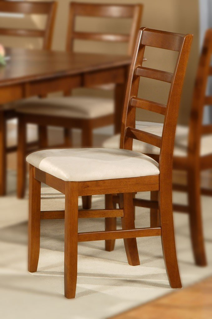 set of 4 parfait dinette kitchen dining chairs with microfiber
