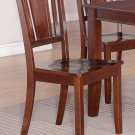 Set of 6 Dudley Dinette Dining Chairs with Plain Wood Seat in Mahogany, SKU: DU6-WC-MAH