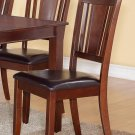 Set of 2 Dudley Dinette Dining Chairs with Leather Seat in Mahogany, SKU: DU2-LC-MAH