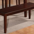 "One Capri Dinette Kitchen Dining Bench L52""xW16""xH18"",  Wood Seat In Mahogany"