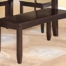 "Lynfield Dinette Kitchen Dining Bench in Cappuccino L48""xD16""xH18"". SKU: LY-WB-CAP"