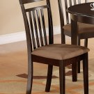 Set of 8 Capri kitchen dining chairs with microfiber upholstered in Cappuccino. SKU: EWCDC-CAP-C8
