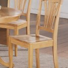 Seat of 4 Avon Dinette Dining Chairs with Plain Wood Seat in Oak Finish, SKU: AVC-OAK-W4