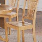 Seat of 8 Avon Dinette Dining Chairs with Plain Wood Seat in Oak Finish, SKU: AVC-OAK-W8