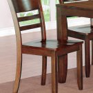 Set of 2 Lynfield dinette dining chairs with plain wood seat in espresso, SKU: LY-WC2-ESP