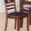 Set of 6 Lynfield dinette dining chair with leather seat in Espresso, SKU: LY-LC6-ESP