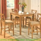 """36x36"""" Square Pub Counter Height Table No Chairs in Oak SKU# PBT-OAK-T"""