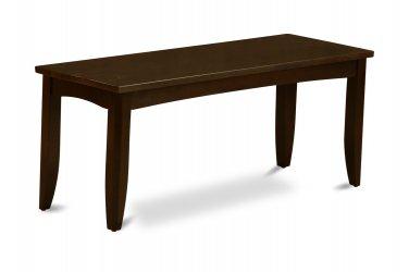 "Parfait Dining Bench in Cappuccino, L43""xD15""xH18"". SKU: PFB-CAP-W"