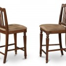 Set of 2 Chelsea counter height chairs w/ microfiber upholstery in mahogany, SKU#: CHS-MAH-C
