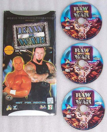 WWE Raw Is War (2000) VCD - 4 Complete Episodes - New & Sealed - Free Shipping Worldwide