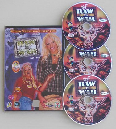 WWE WWF Raw Is War Wrestling 4 Complete Episodes VCD DVD Free Shipping - Great Deal #1