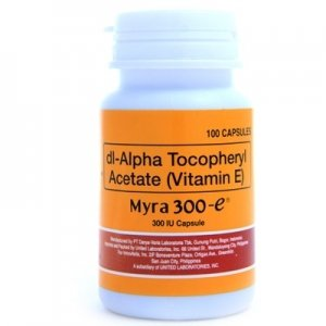 60 Capsules Myra-E 300 d-Alpha Tocopherol - Vitamin E