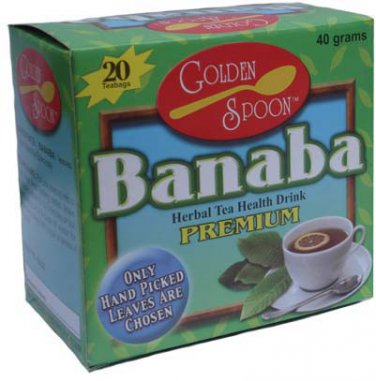 4 Boxes of Golden Spoon Herbal Tea Banaba Weight Loss Kidney Gal Stone FREE SHIPPING