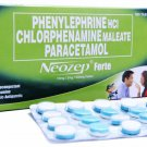 100 Capsule Box Neozep Forte Tablets Drowsy Cold Medication 100 Tablets