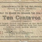 Philippines S629 10 CTVS Negros Coupon Check Issue Serials Range #1 to 150,000  (#78,651)