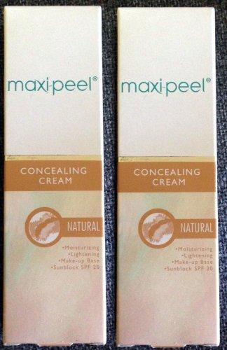2 Maxi Peel Concealing Cream NATURAL Moisturizing Lightening Make Up Base SPF 20