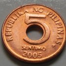 2005 5 Sentimo Philippines Coin  Uncirculated KM# 268 FREE SHIPPING