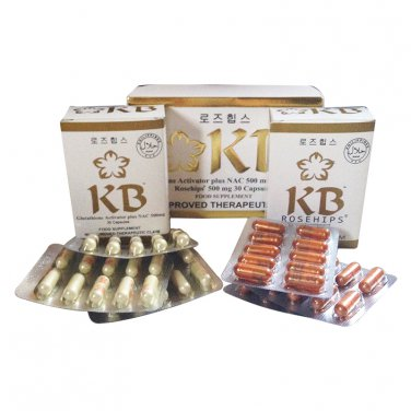 KB Kyusoku Bihaku Glutathione Activator Plus Whitening Pills and Rosehip 30 Each