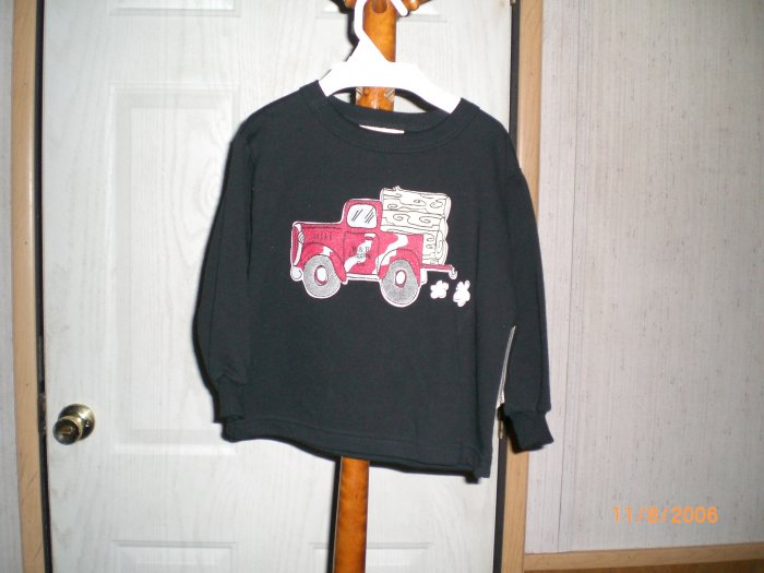 BUCK A ROO BLACK  LOG TRUCK SWEATER