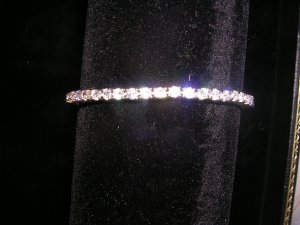 "Sterling Silver CZ  7"" Tennis Bracelet - Awesome Gift!"