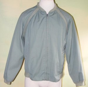 60S Penney's Towncraft Jacket Sage Green Knit Cuff M