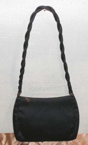 Black Faille Hand Bag Purse Sling Small Vintage