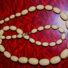 70S Beige Tan Chunky Plastic Bead Necklace 28""