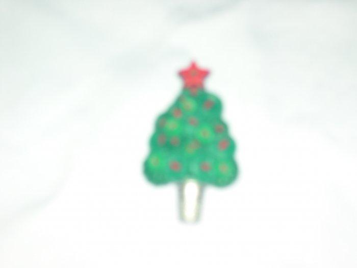 Vintage PLastic Hallmark Christmas Tree Pin