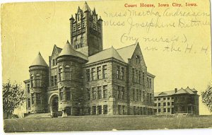 Vintage Used Iowa City Postcard