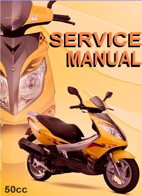 Scooter 50cc GY6 QMB 50 Service Repair Manual Chinese