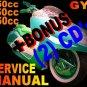 Chinese Scooter 50cc 150cc 250cc GY6 Service Manual Kaisar Kangchao Jialing Honglei
