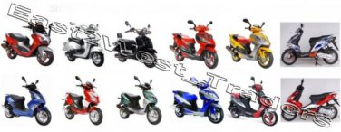 150 150cc GY6 QMB/QMJ Chinese Scooter Service Repair Manual Shineray Sukida Taishan Wangye Wuyang