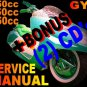 Chinese Scooter GY6 50cc 150cc 250cc QMB QMJ Service Repair Manual + BONUS Bajaj Qlink Hunter Chetak