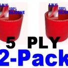 "2 pcs 3"" Inch Red Silicone Couplers for I/C Intercooler or Air Filter Intakes"